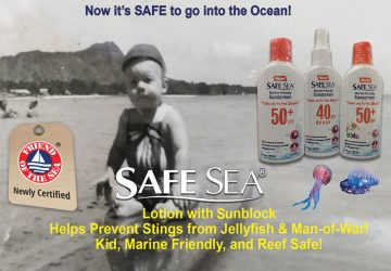 SAFE SEA Sunscreen & Jellyfish Sting Protective Lotion/ Spray, Ocean Safe, Kid Safe, SPF50 & SPF40, FDA Approved